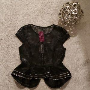 Black Zipper Blouse